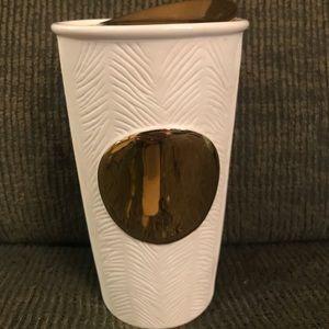 Starbucks Gold Polka Dot Collection Travel Mug